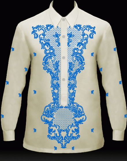 Men's Barong Cream Jusi fabric 100831 Cream
