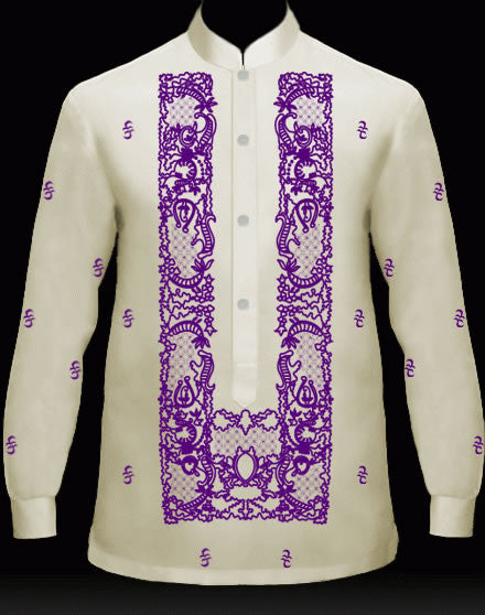 Men's Barong Cream Jusi fabric 100846 Cream