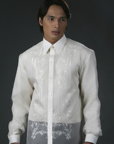 Men's Barong Cream Jusi fabric 100850 Cream
