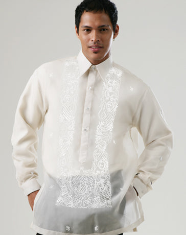 Men's Barong White Jusi fabric 100752 White