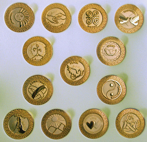 103 Gold English-card Wedding coins