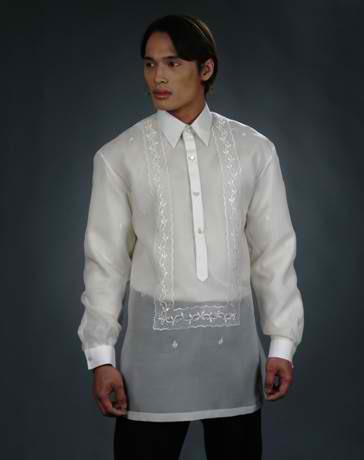 Men's Barong Tagalog 100440 Cream Made-To-Order