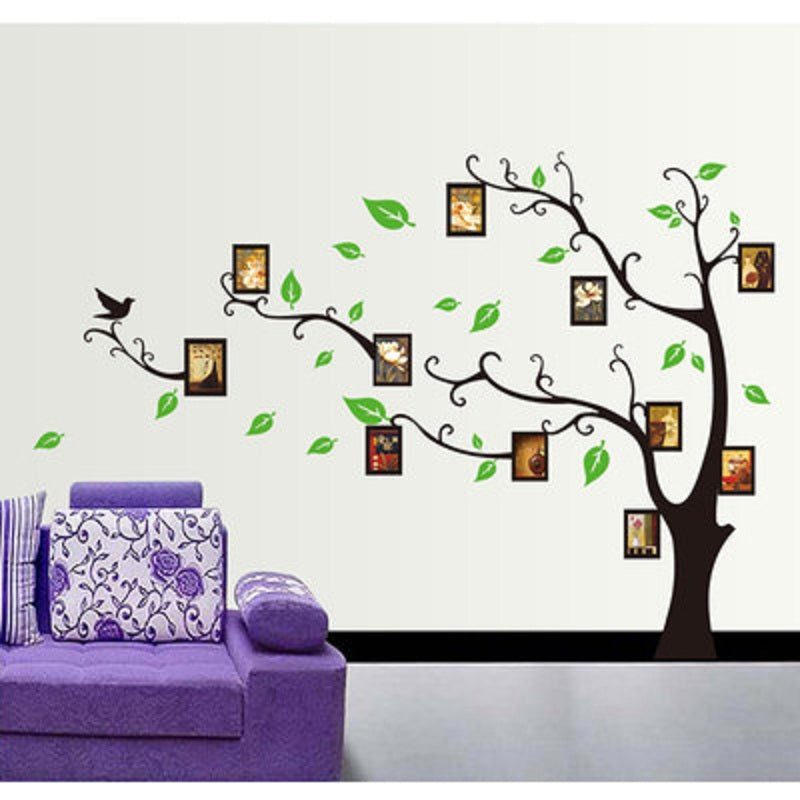 3ad900f03 DIY Photo Gallery Frame Decor Wall Sticker Large Family Tree Photo Frames  Wall Decal