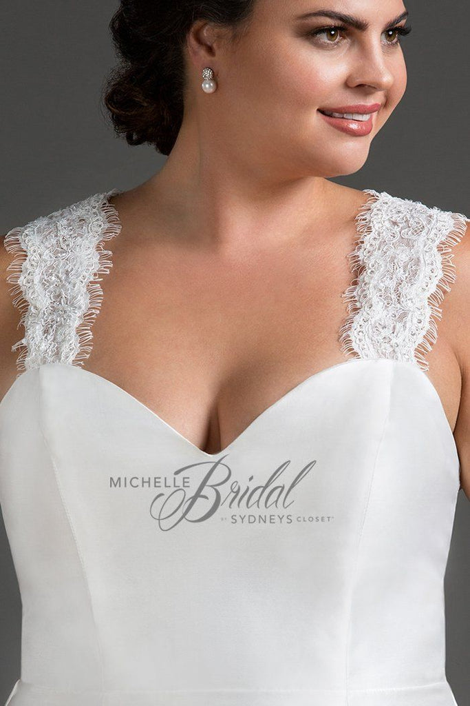 Lace Straps to Put On Plus Size Wedding Gown | MB1204
