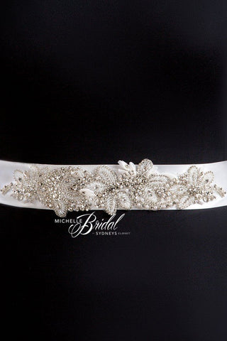 plus size bridal belt in ivory, champagne or white