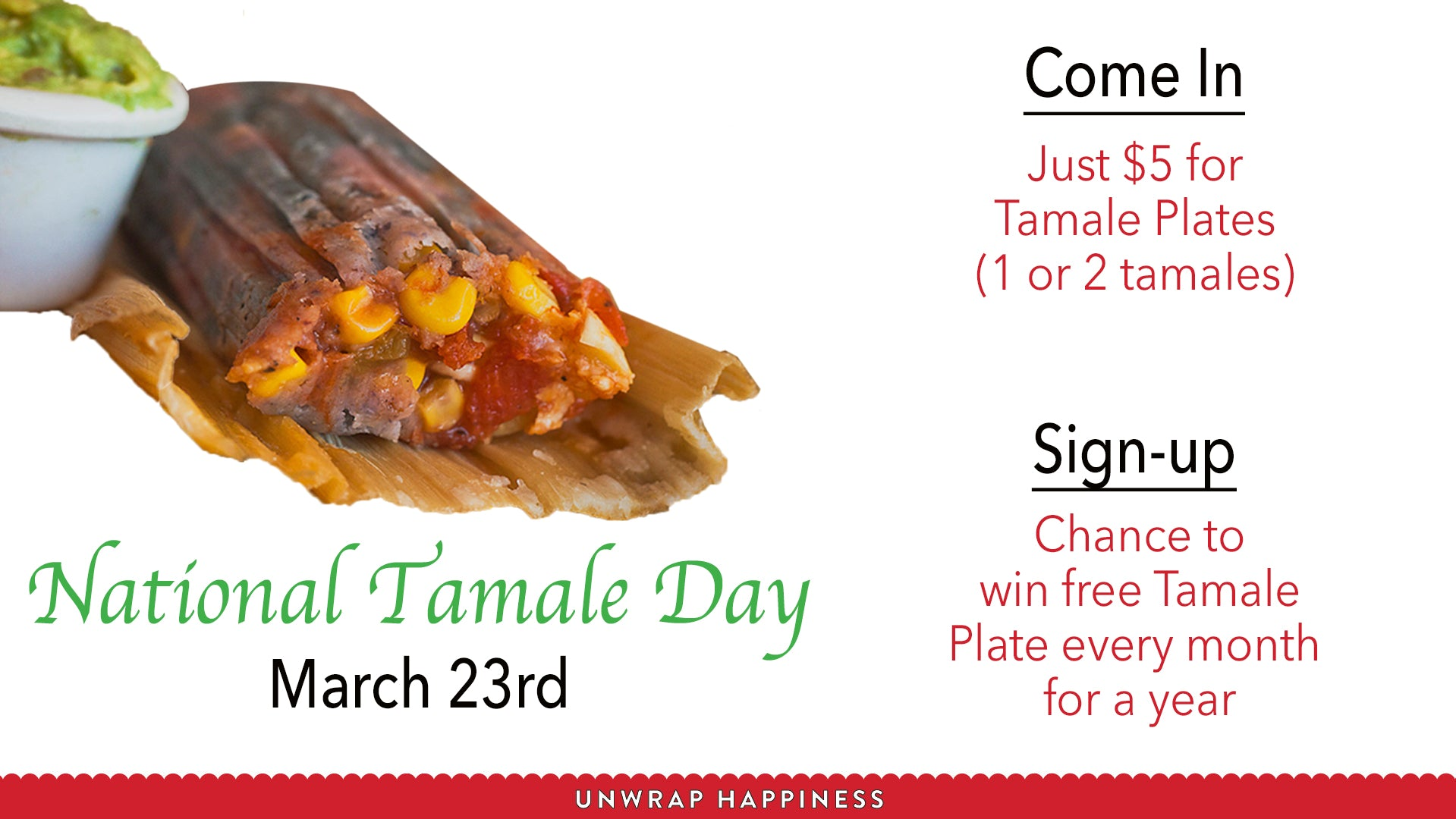 National Tamale Day Deals