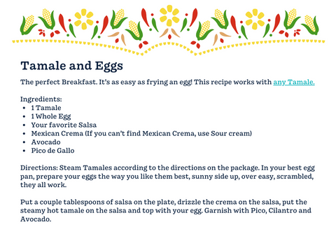Tamale and Eggs