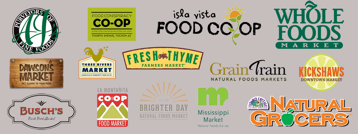 Image featuring partner company logos that carry Tucson Tamales