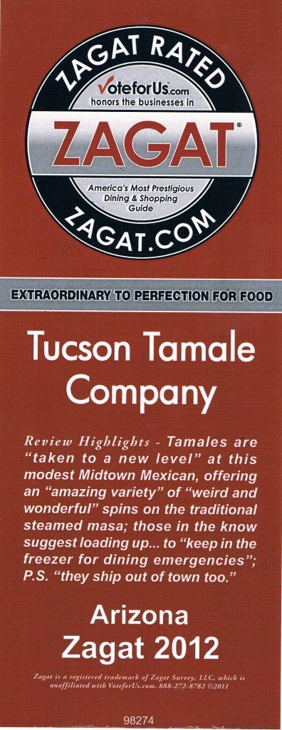 zagat review of the Tucson Tamale Company