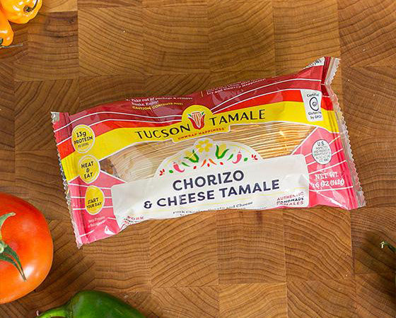 Chorizo & Cheese - Pack of 8 Single Serve Tamales
