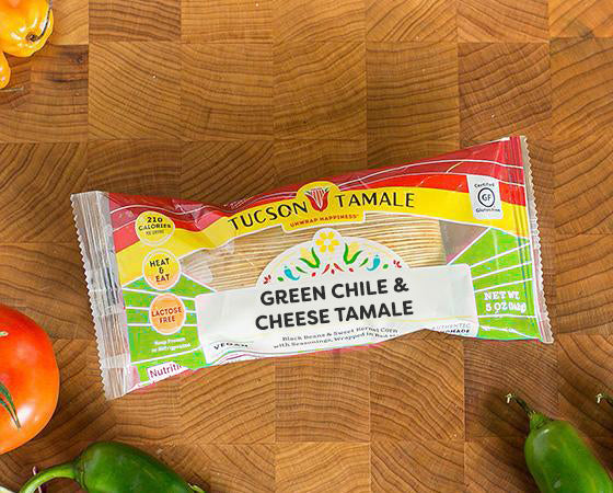 Green Chile & Cheese - Pack of 8 Single Serve Tamales