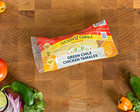 Green Chile Chicken - Pack of 8 Single Serve Tamales