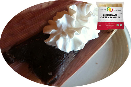 chocolate tamale with whipped cream