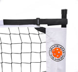 Portable Pickleball Net | Easy-Snap Metal Frame, Tension Strap, Carry Bag | Regulation Size