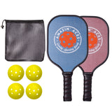 Amazin' Aces Classic Pickleball Paddle Set (2 Graphite Paddles + 4 Balls)