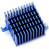40 x 40 x 25 mm Tall Blue Heat Sink