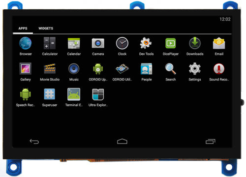 ODROID-VU5A : 5inch HDMI display with Multi-touch and Audio capability