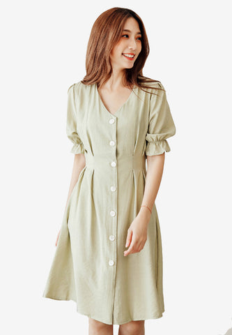 Boho Casual Puff Sleeves Dress