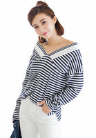 Nautically Striped Cutesy Pullover