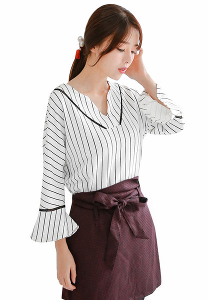 Poised Pinstripes Charming Top