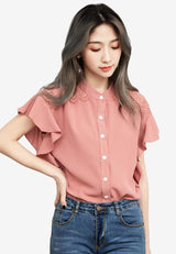Gorgeous Femme Button-Down Top