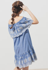 Splendid Eyelet Denim Dress