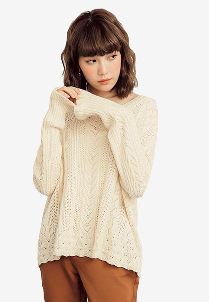 Autumn Feel Knit Sweater Top