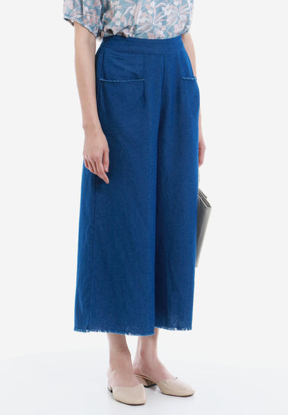 Vacation Hype Denim Wide-leg Pants
