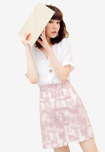 Dreamy Pastel Abstract Skirt