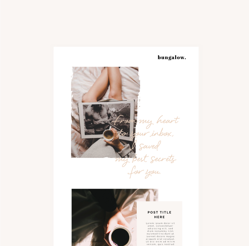 Bungalow Flodesk Template