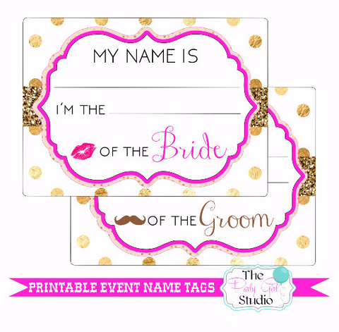 picture relating to Name Tags Printable named Printable Popularity Tag Package deal Occasion/Marriage Engagement Occasion Rehearsal  Bridal Shower Bachelorette Visitor Track record Tags