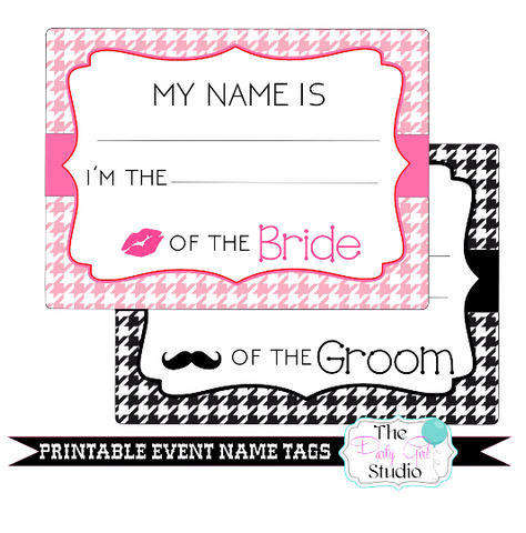photo about Name Tags Printable named Printable Track record Tags Celebration/Wedding ceremony Engagement Occasion Rehearsal Bridal Shower Bachelorette Visitor Track record Tags