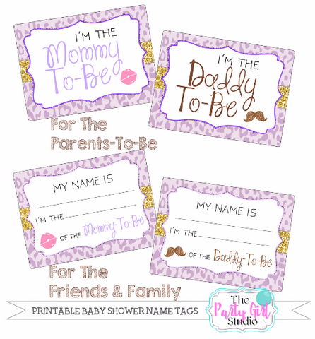 Printable Name Tag Package Baby Shower Its A Boy Party
