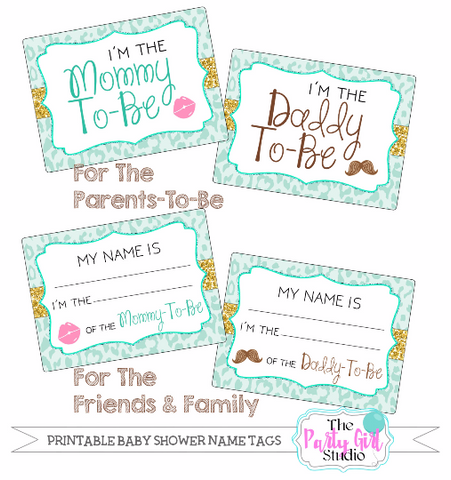 picture regarding Printable Name Tag called Printable Status Tag Bundle Kid Shower Its a boy Social gathering Rehearsal  Its a female Child Bump Visitor Reputation Tags