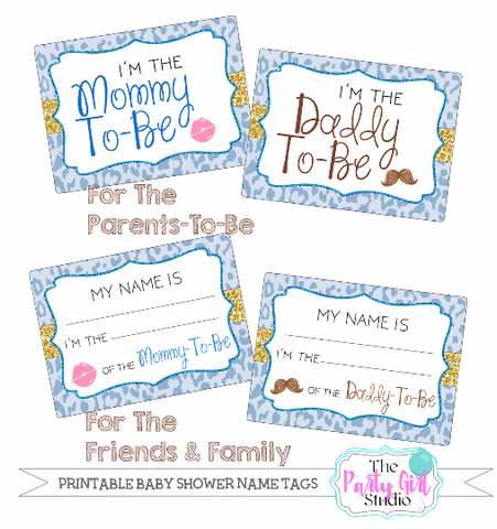 Printable Name Tag Package | Baby Shower | Its A Boy | Party Rehearsal | Its