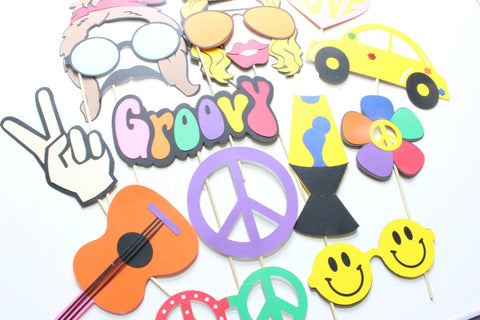 16pc * Hippie Photobooth Props/1960's Props/Wedding