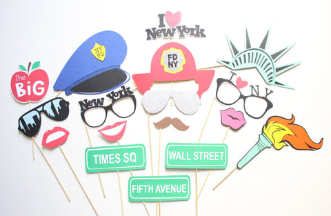 17pc Big Apple Photo Booth Propsnew York Phoroboothny City
