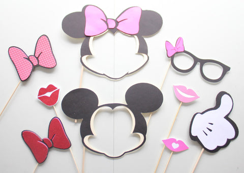 photo about Disney Princess Photo Booth Props Free Printable called 9personal computer * Mickey and Minnie Motivated Photograph Booth Props