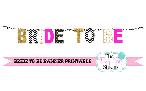 photo regarding Printable Bridal Shower Signs titled Bride in the direction of Be Banner/ Printable Do it yourself Bunting/ Bridal Shower