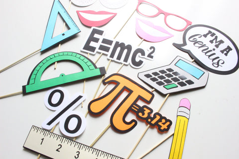 11 Pc Math Photobooth Propsback To School Photo Booth Props Back