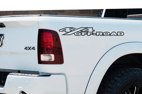 1 Color 4x4 Off Road Bedside Vinyl Decals Fits Dodge Ram 1500 2500 3500 Power Wagon