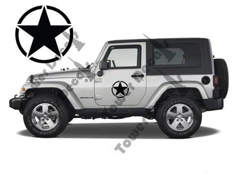 8″ Army Stars Fits Half Doors for Jeep Wranglers, Rubicons, Saharas, Cherokees
