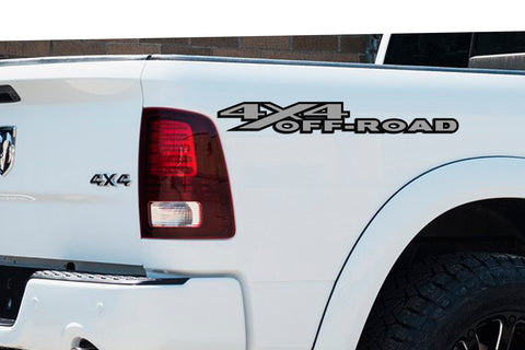 2 Color 4x4 Off Road Bedside Vinyl Decals Fits Dodge Ram 1500 2500 3500 Power Wagon