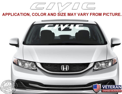 Honda Civic Windshield Window Banner Vinyl Decal Accessory Sticker