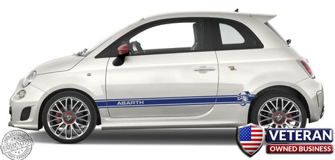 Abarth Scorpion Door Runner Rocker Panel stripes - Pair - fits Fiat 500 Abarth