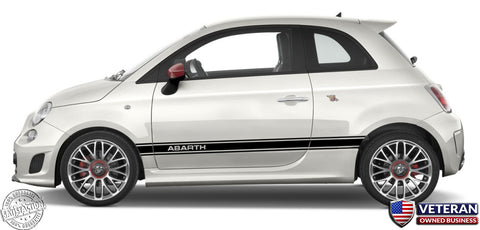 Simple Door Runner Rocker Panel stripes - Pair - fits Fiat 500c Abarth