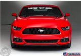 Custom Text Windshield Banner Vinyl Decal-Fits Ford Mustang Cobra GT 2000-2015