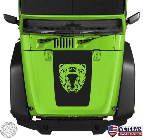 Grizzly  Hood Blackout Medal of Honor Vinyl Decal fits: Jeep Wrangler JK TJ YJ