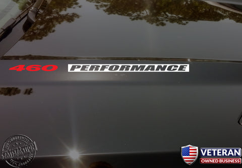 460 PERFORMANCE Hood Vinyl Decals Sticker for: Ford 7.5L Big Block V8 INV
