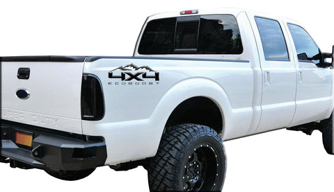 4X4 ECOBOOST DECAL MOUNTAINS FITS: 2008-2017 FORD TRUCK F250 F350 SUPER DUTY